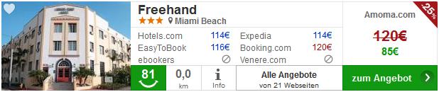 Hotel miami beach freehand
