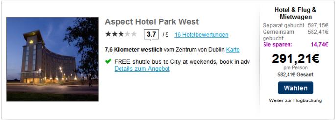hotel aspects palace dublin