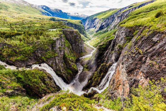 Norwegen Voringsfossen Wasserfall
