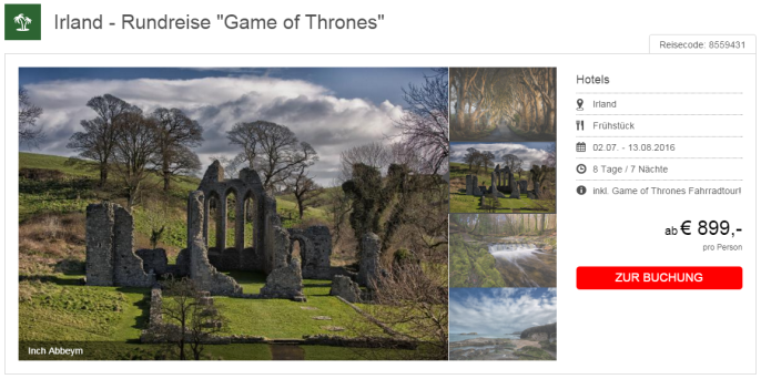 game of thrones rundreise in irland