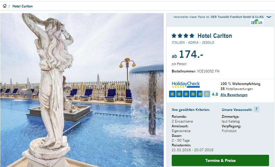 Hotel Jesolo  Sterne Direkt Am Strand