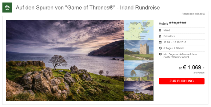 game of thrones rundreise