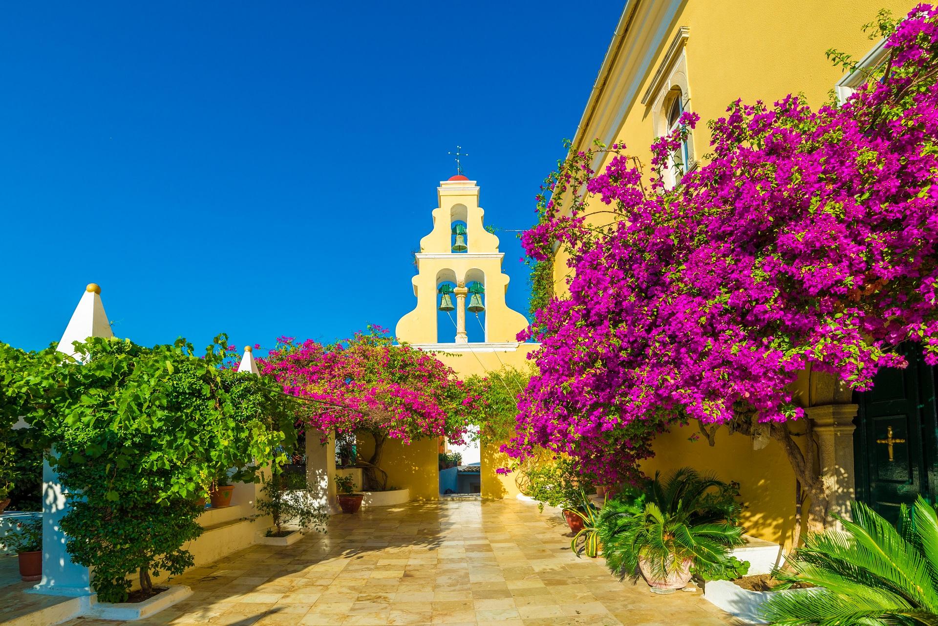 Kloster Panagía Theotóku tis Paleokastrítsas auf Korfu, Griechenland