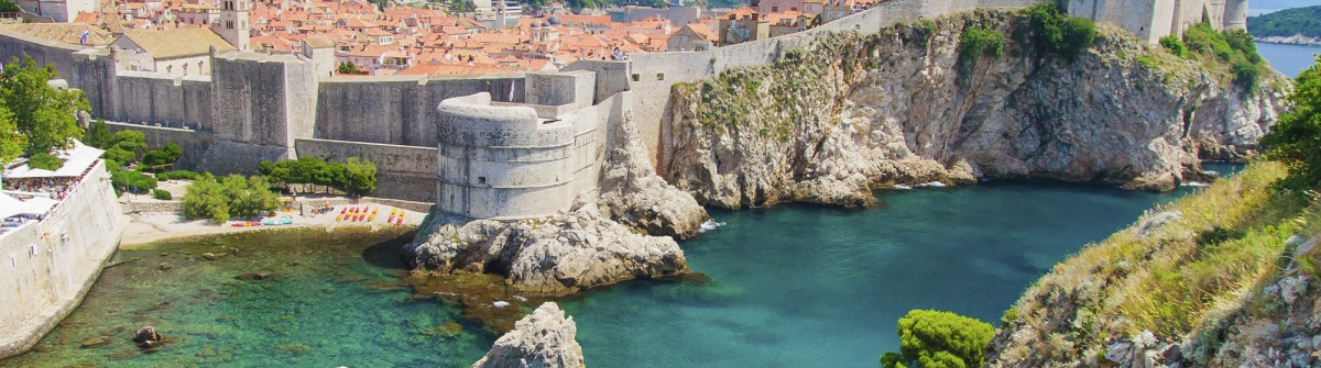 Dubrovnik in Croatia Scenic view on city walls iStock_000023855600_Large