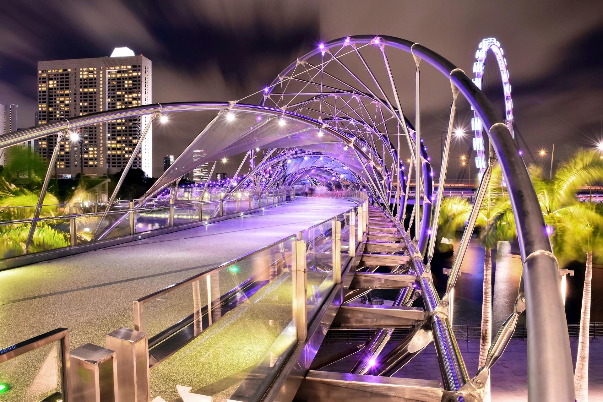 Singapur Tipps Marina Helix Brücke
