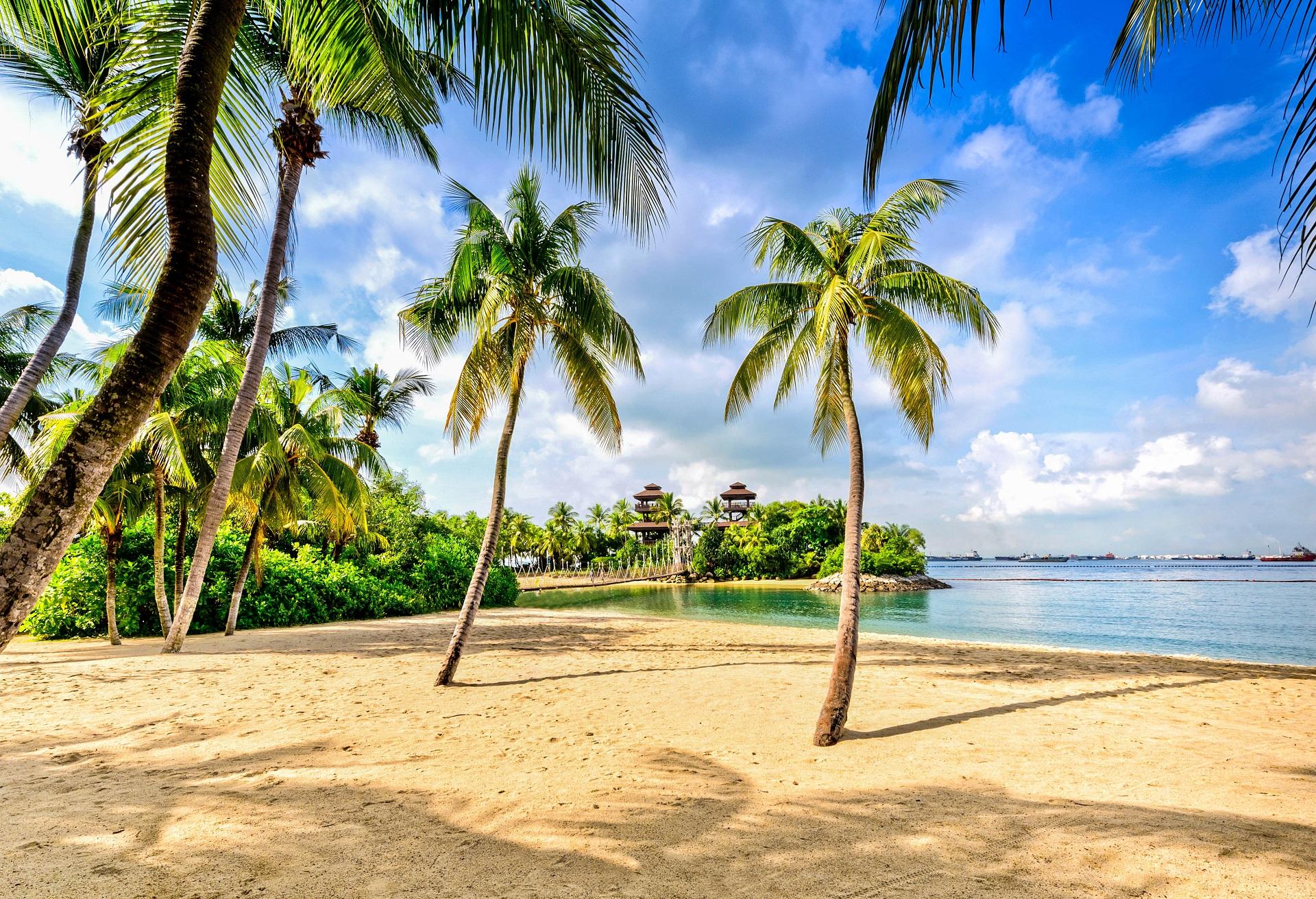 Singapur Tipps Strände Sentosa Island