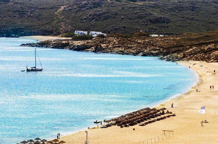 Elia beach, Mykonos, Greece