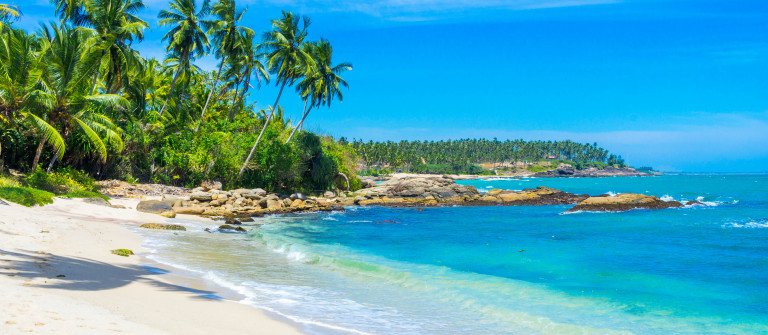 Tropical beach in Sri Lanka