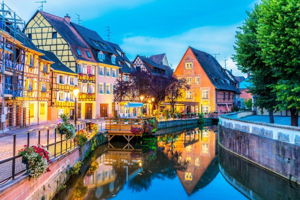 Colmar France at Night