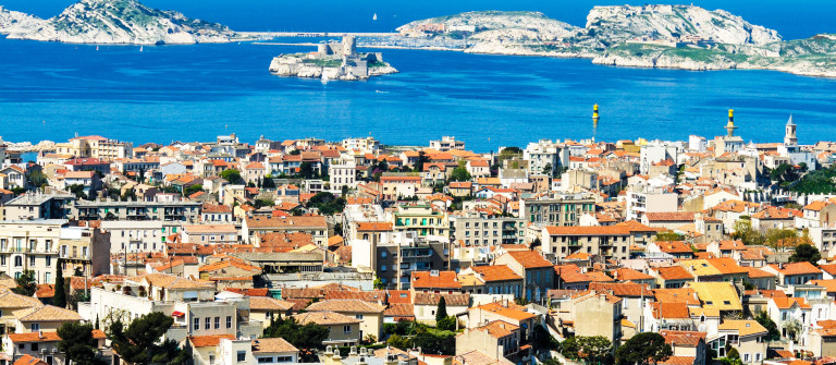 Marseille and view of Chateau d'If iStock_000012732430_Large-2