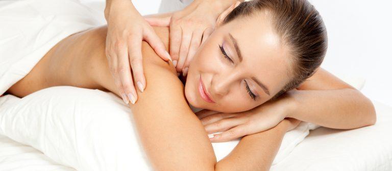 Beautiful woman at massage procedure