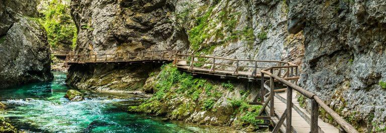 Die Vintgar-Klamm in Slowenien