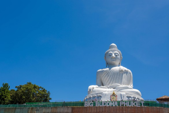 Beautiful big buddha monument of Phuket in Thailand