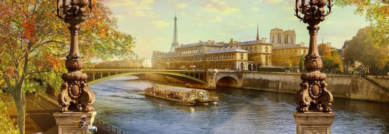 the Seine, Notre Dame de Paris.