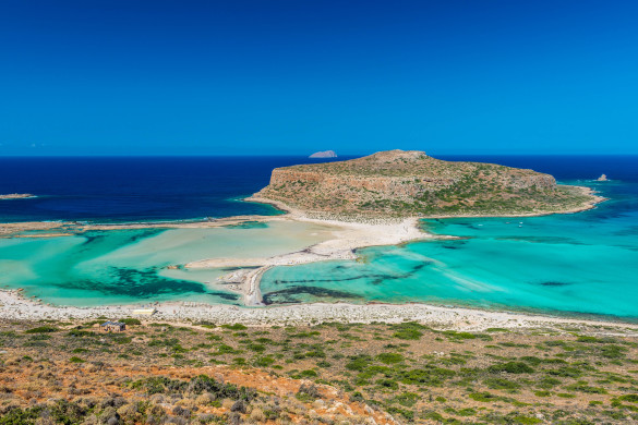 The Beautiful Gramvousa Island And The Balos Lagoon In Crete, Greece