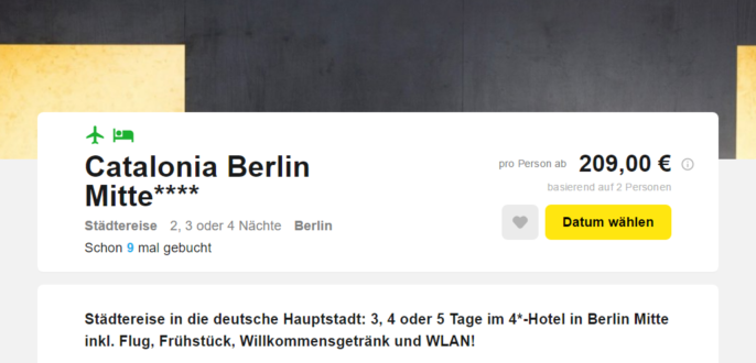 Hotel Catalonia Berlin Bewertung