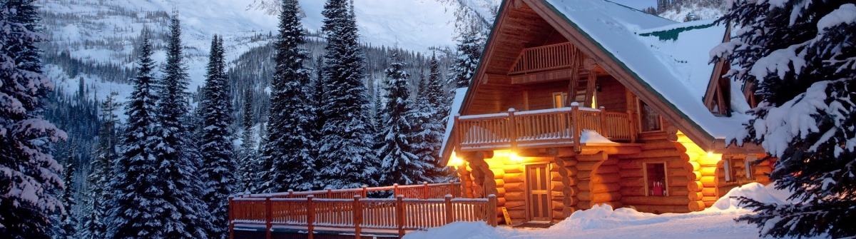 Mountain Lodge in Winter