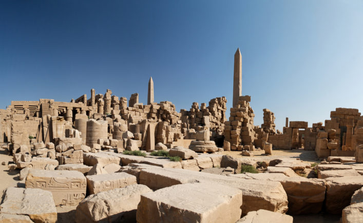 Image from inside the ruins of the Karnak temple