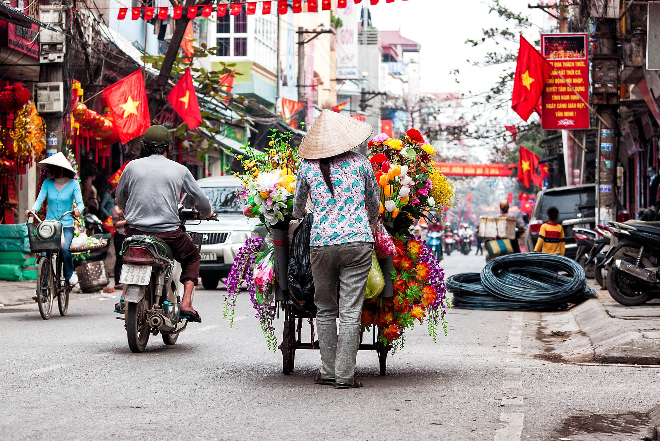 Straßen von Hanoi, Vietnam