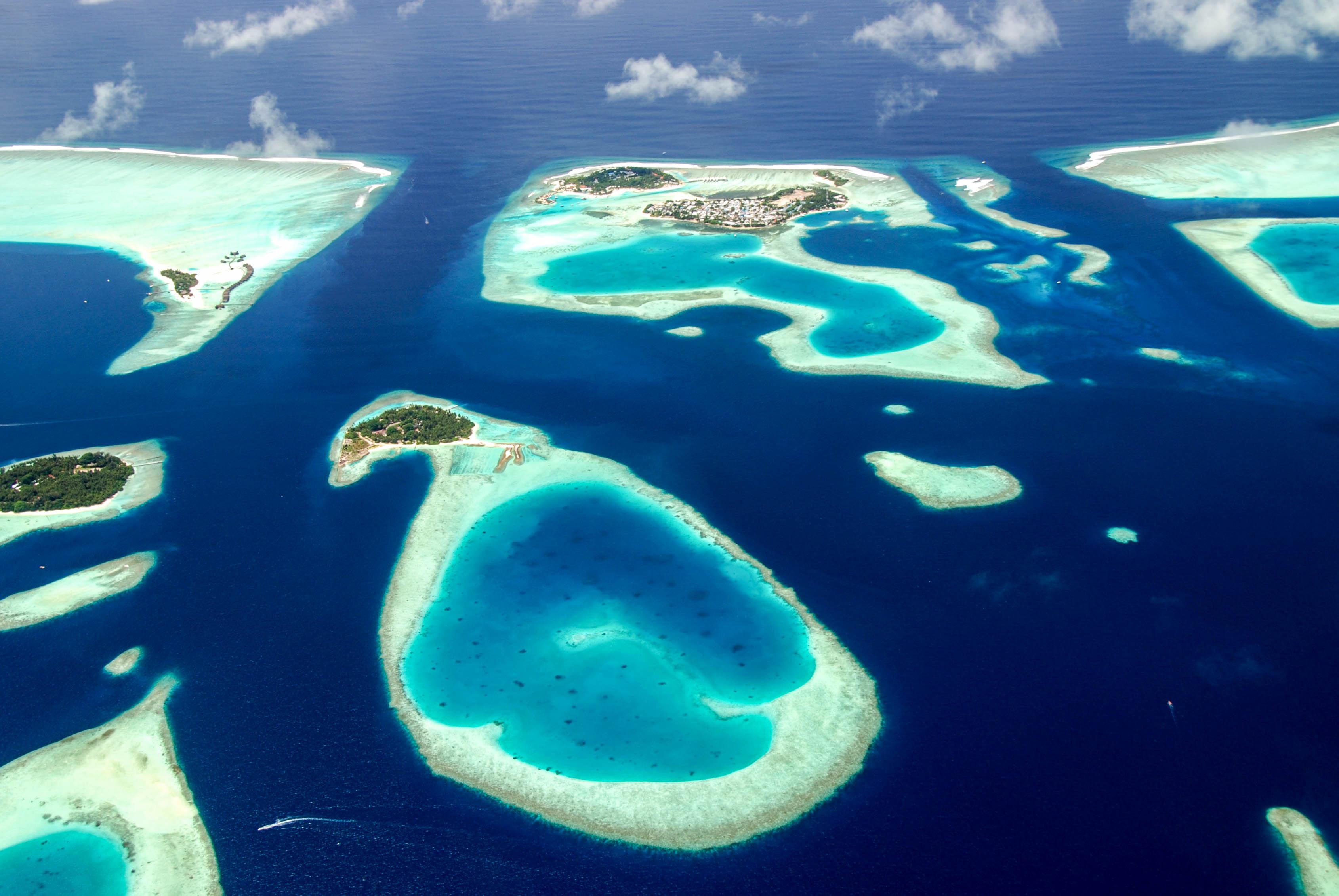Malediven Sky, View, Islands