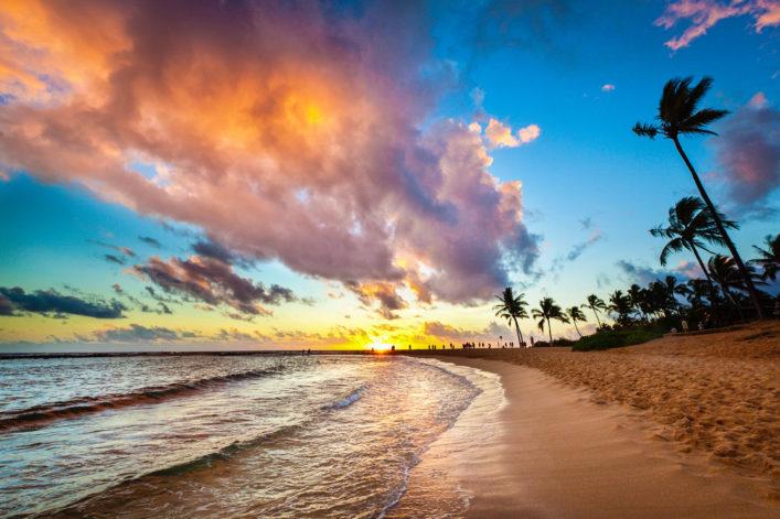 sunset-at-tropical-poipu-beach-of-kauai-hawaii-istock_66995317_xlarge-2