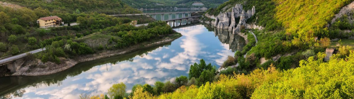 "Spring over the rock phenomenon ""The Wonderful Rocks"", Bulgaria"