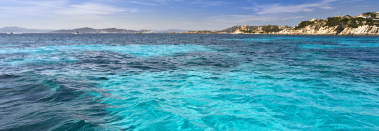 A scenic beach view of La Maddalena, Sardegna