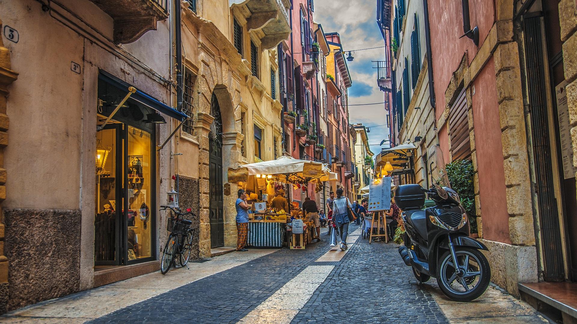 In den Straßen von Verona