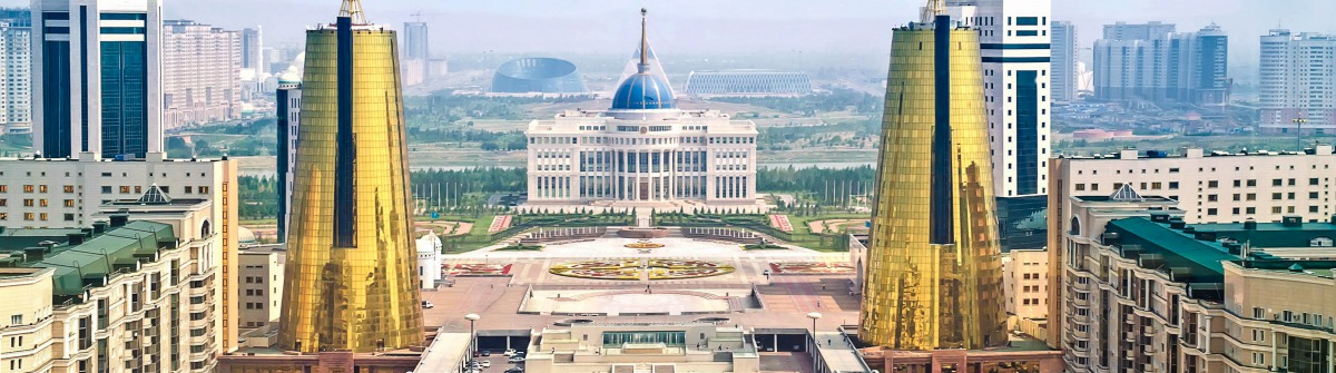 View of the Nurzhol Boulevard and President's Palace Acorda shutterstock_216420808 EDITORIAL ONLY ppl-2