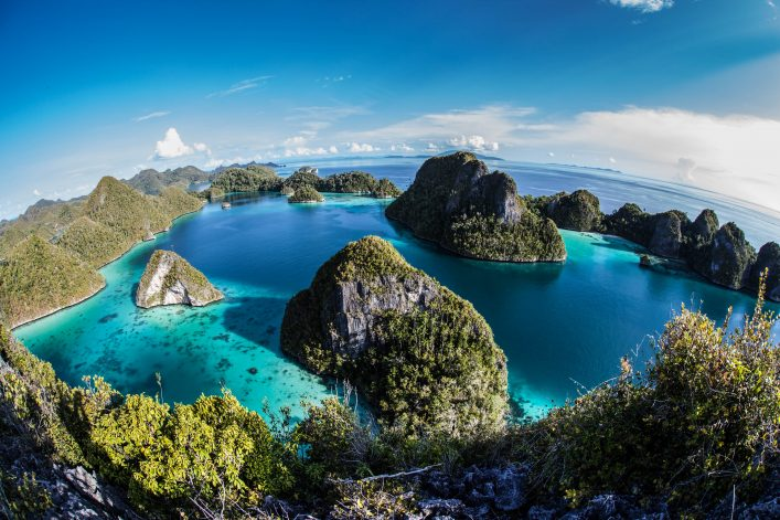 Limestone Islands and Tropical Lagoon
