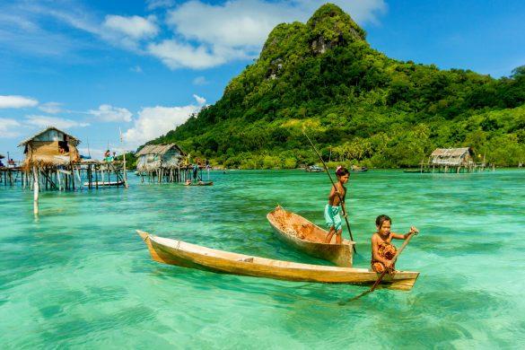 Indonesien Seenomaden auf Borneo