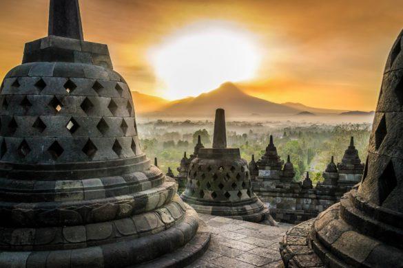 Indonesien Insel Java Borobudur