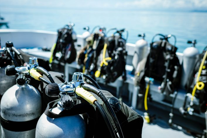 Diving Equipment on Boats