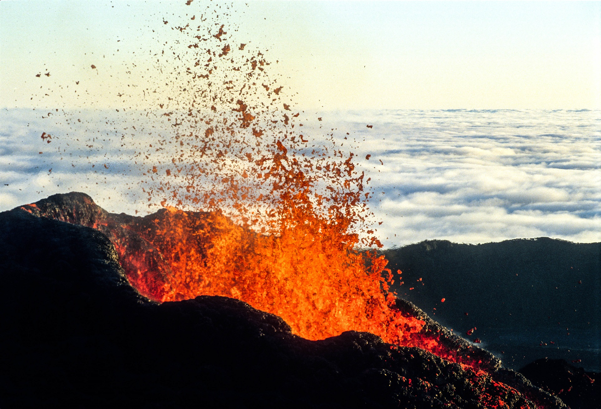 La Réunion Vulkanausbruch