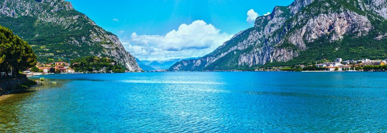 Lake Como (Italy) summer view.