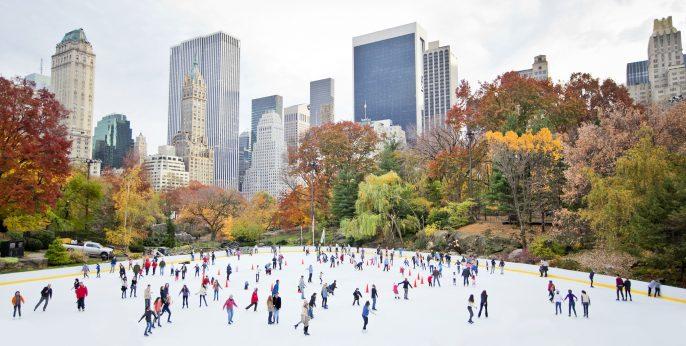 Ice skaters having fun in New York Central Park in fall_shutterstock_88847629