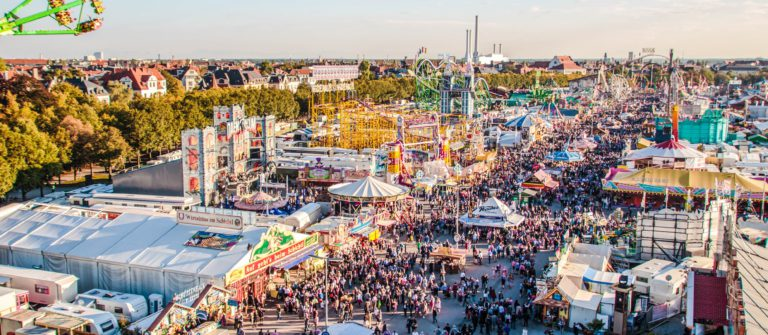 Oktoberfest fairgound in Munich, Germany, 2015