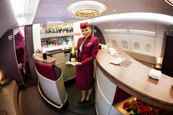 qatar-airways-airbus-a380-cabin-crew-member-flight-attendant-shutterstock_350750447-editorial-only-dmitry-birin-2