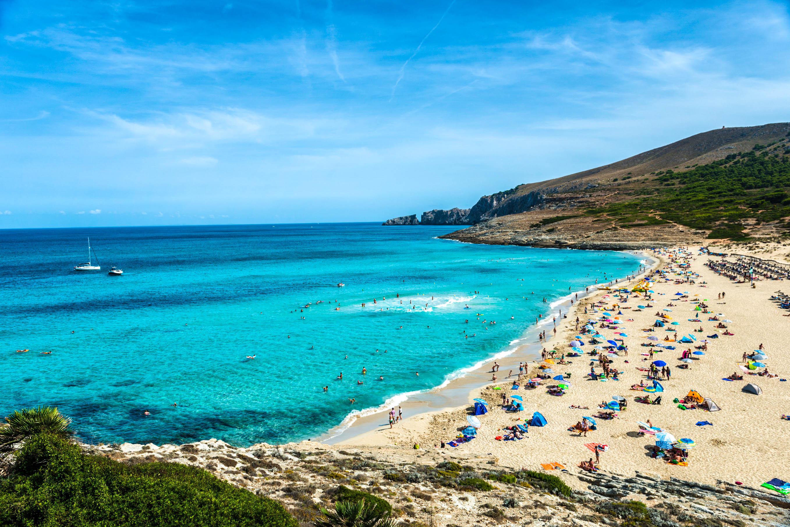 Schönsten Strände Mallorcas Strand von Cala Mesquida, Mallorca Spain Urlaub