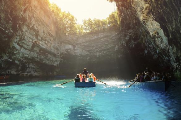 Kefalonia Griechenland Melissani Höhle