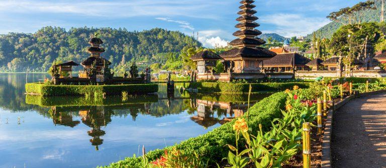 Pura Ulun Danu Bratan at sunrise, Bali, Indonesia