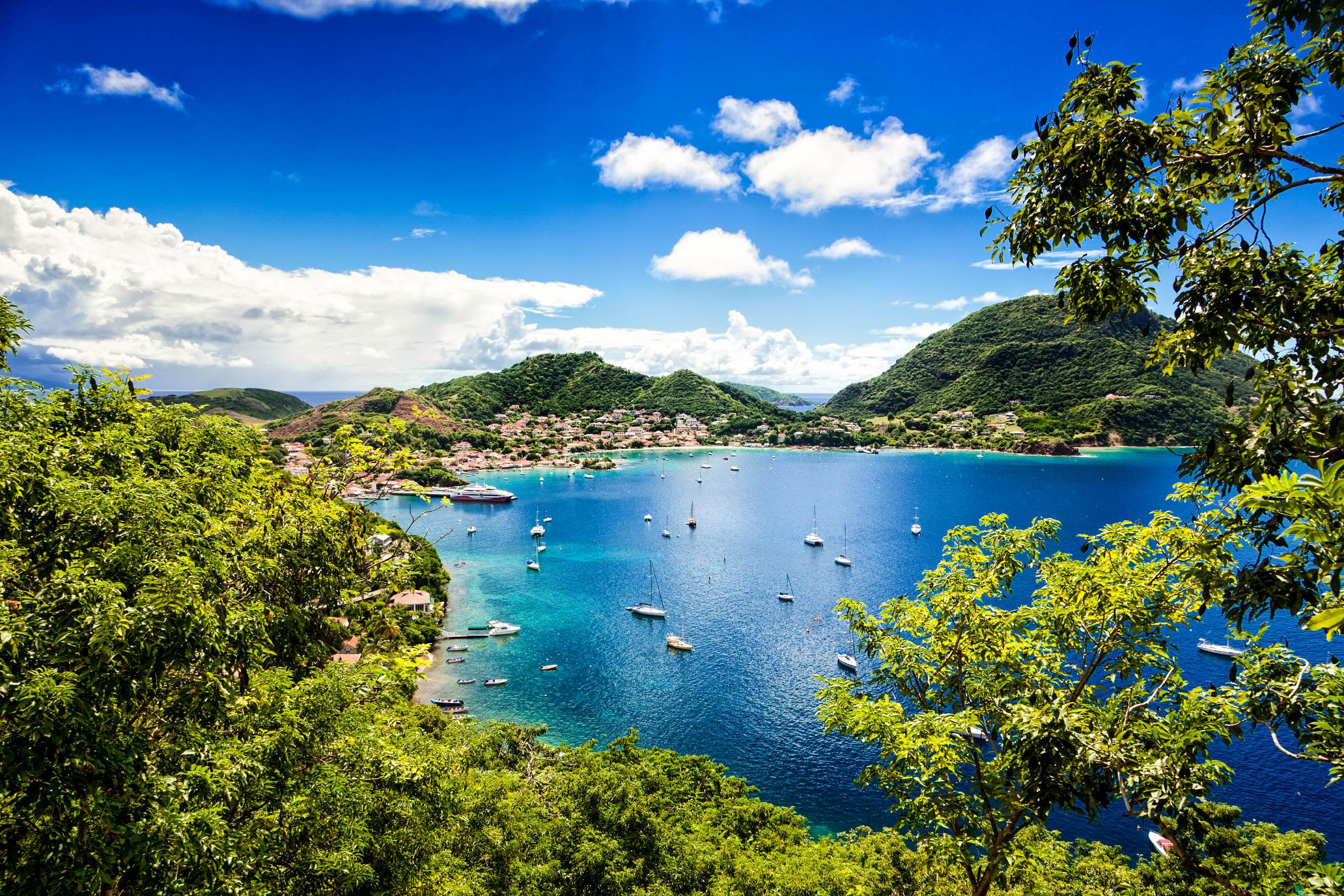 Französische Karibikinseln Landscape, Ships