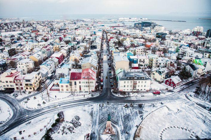 Overlooking Reykjavik