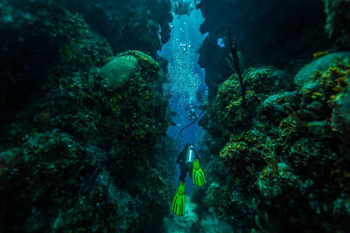 scuba-diver-swims-through-tunnel-shutterstock_167593784-editorial-only-pete-niesen-2-1