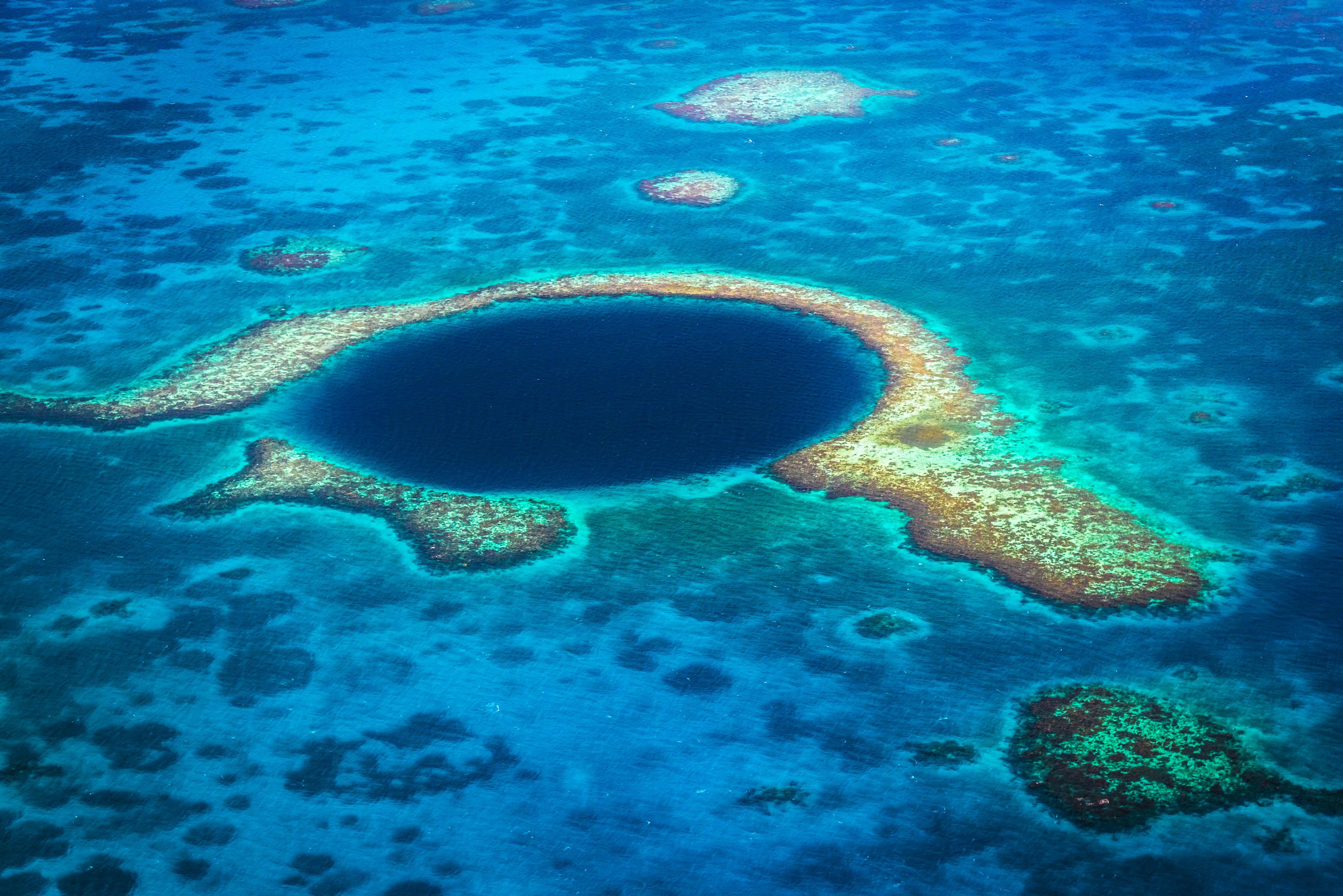 Naturphänomene Blue Hole in Belize