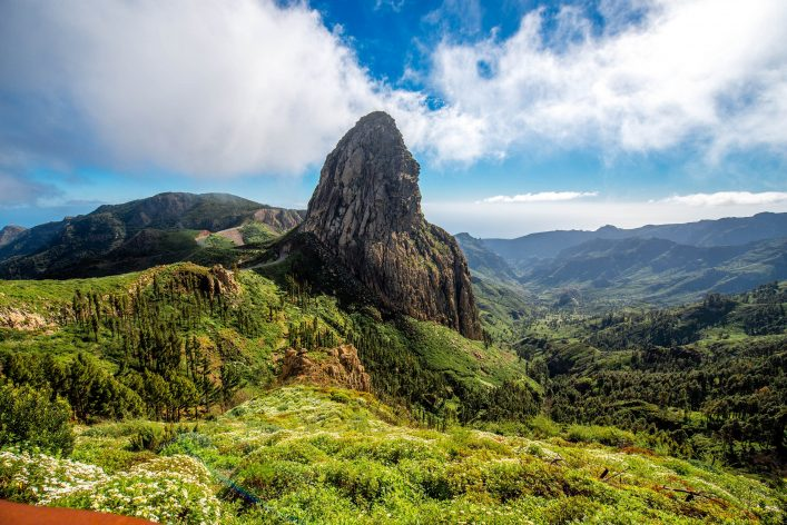Mountain view on La Gomera island