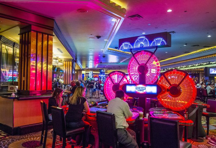 The interior of MGM hotel and casino shutterstock_276235883 EDITORIAL ONLY Kobby Dagan
