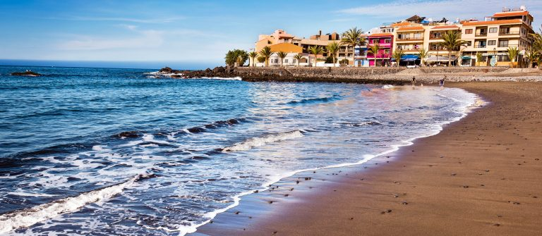 Valle Gran Rey beach in La Gomera, Canary islands, Spain.