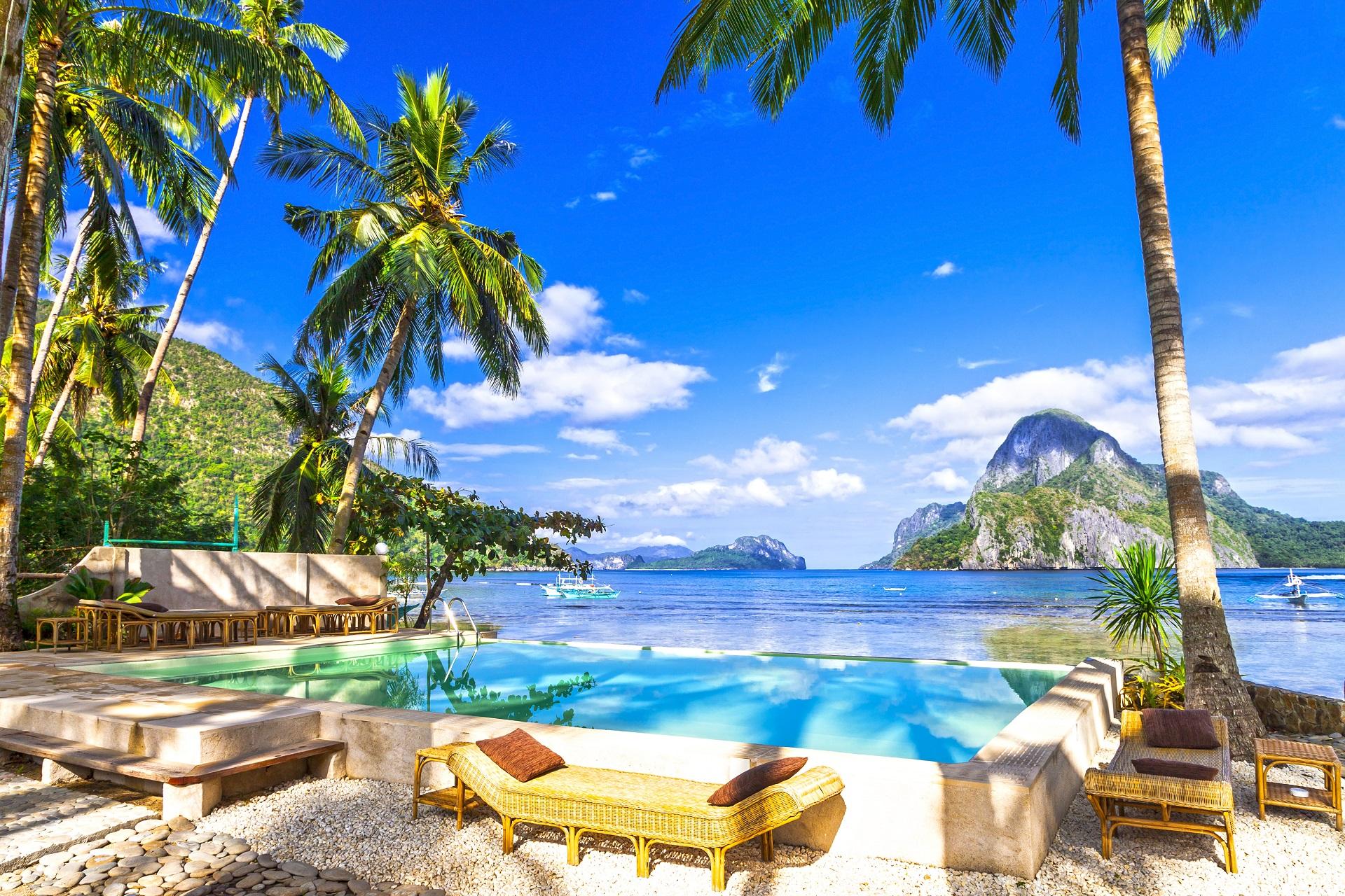 El Nido_Philippinen_pool resort shutterstock_345857036