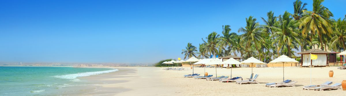 Sunny beach in Salalah Oman